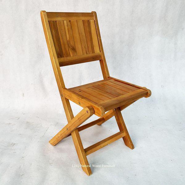 Ghế cafe mini gỗ tràm gấp ngược