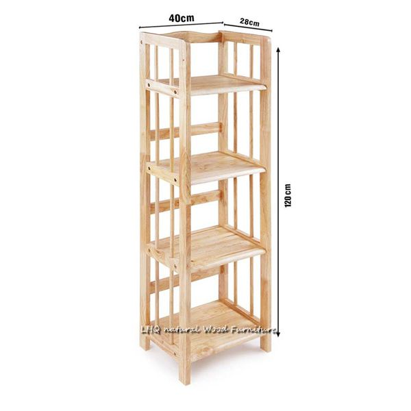 Kệ sách gỗ 4 tầng rộng 40cm