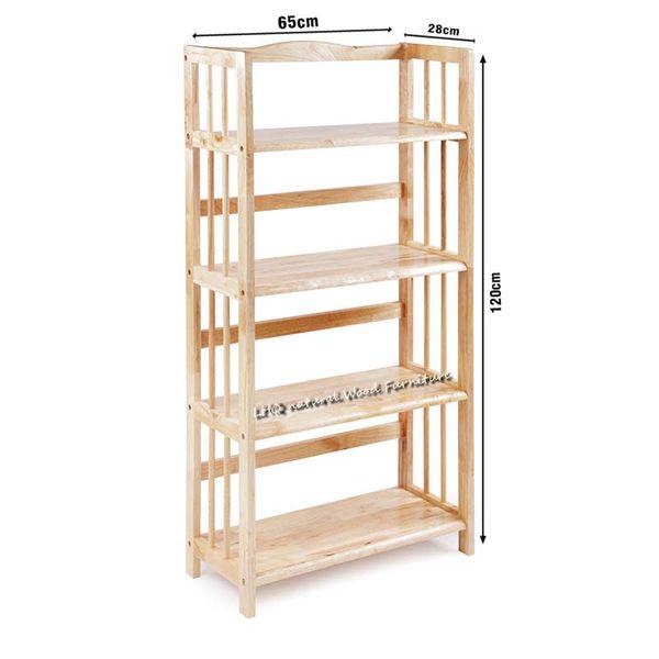 Kệ sách gỗ 4 tầng rộng 65 cm