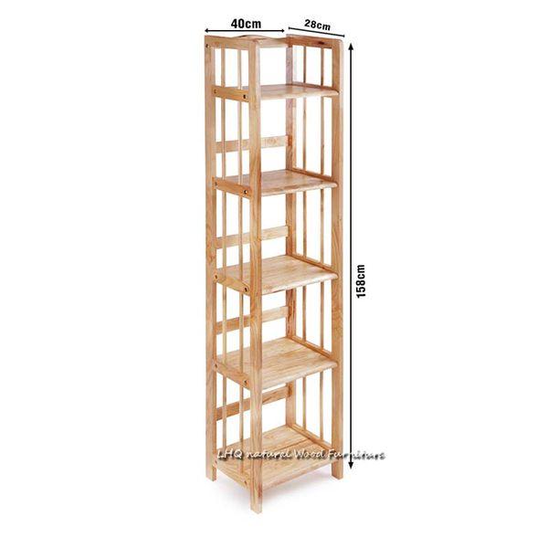 Kệ sách gỗ 5 tầng rộng 40 cm